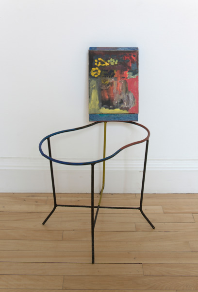 Victoria Morton, Untitled, 2010, Oil painting on board and wood, oil paint, metal stand, 80 x 45 x 25 cm