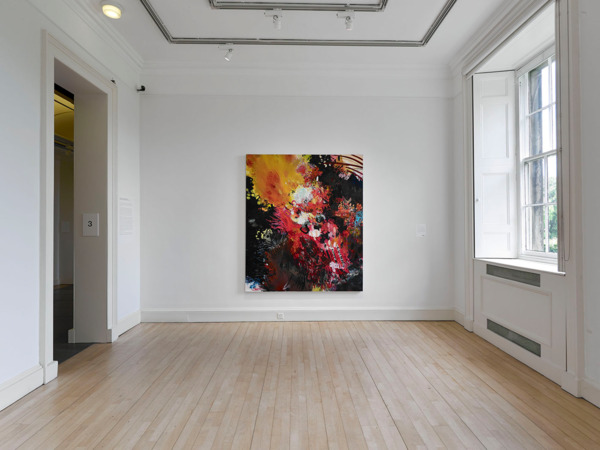 Victoria Morton, Dirty Burning 1997, Oil on canvas, 210 x 180 cm, Installation view 'GENERATION: 25 Years of Contemporary Art in Scotland', Scottish National Gallery of Modern Art, Edinburgh, 2014
