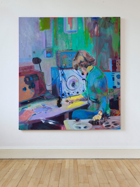 Victoria Morton, Daphne Oram, 2014, Oil on canvas, 200 x 180 cm