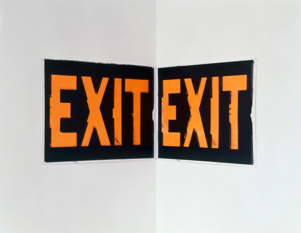 Scott Myles, Double Exit, 2004, Silkscreen on paper, 72 x 102 cm