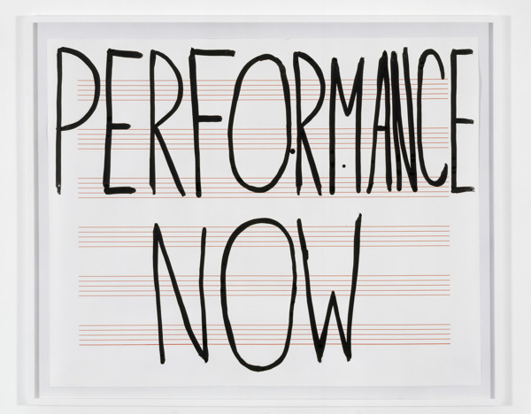 Scott Myles, Performance Now, 2005, Silkscreen and ink on paper, 128.5 x 159.5 cm