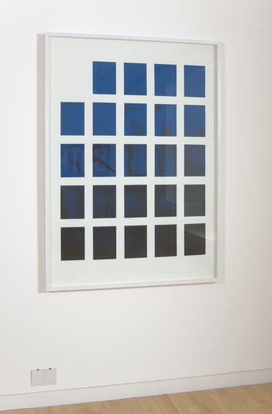 Scott Myles, STABILA (Black and Blue), 2009, Screenprint, lithograph on paper, 110 x 140 x 4 (framed), Edition of 10 & 1AP