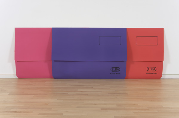Scott Myles, The Past From Above (Elba Pink, Red, Purple), 2010, Screenprint on Paper, 100 x 285.5 x 14 cm