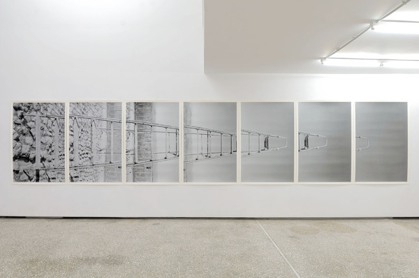 Scott Myles, Mont Ventoux Panorama (After Petrarch), 2010, 7 screenprints on paper, Each 150 x 714 cm