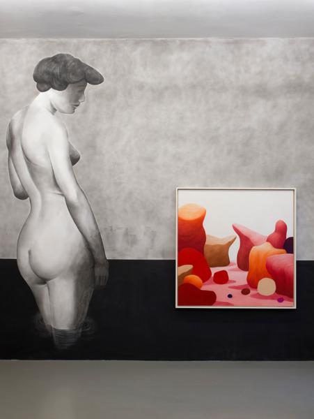 Installation view, 'Pastel et nu', Centre Culturel Suisse, Paris, 2015