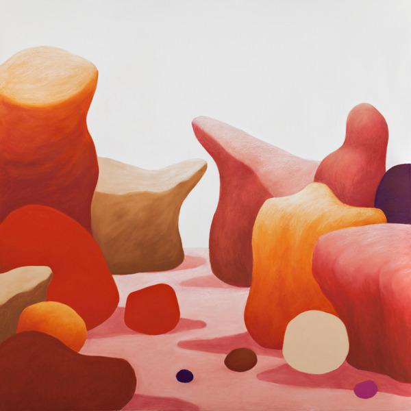 Nicolas Party, Rocks, 2014, Pastel on canvas, 155 x 155 x 6.5 cm