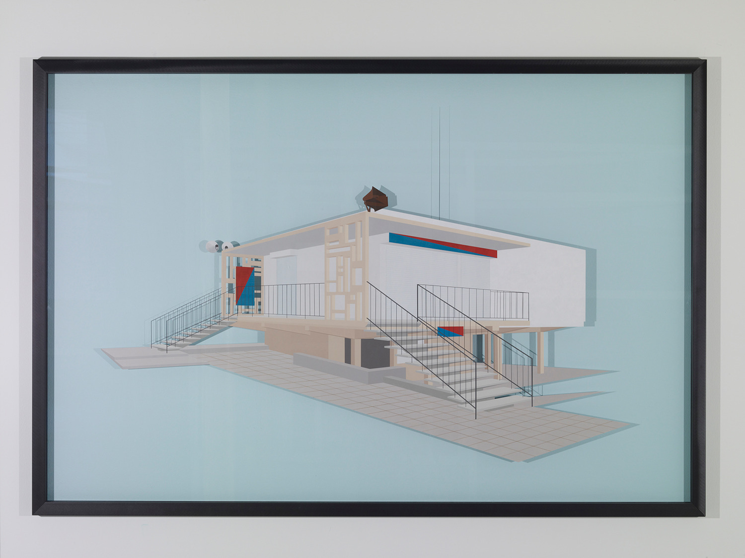 Toby Paterson, The Sports Pavilion, 2011/2012, Acrylic on Perspex, 126 x 186 x 4 cm