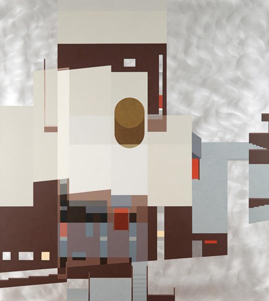 Toby Paterson, Talisman, 2014, Acrylic on Aluminium, 155.4 x 140 x 3.5 cm