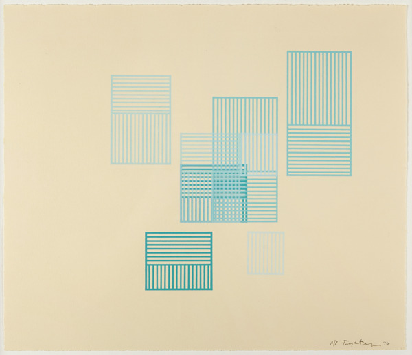 Toby Paterson, Tower, 2014, Screenprint, 46 x 52 x 2.5 cm