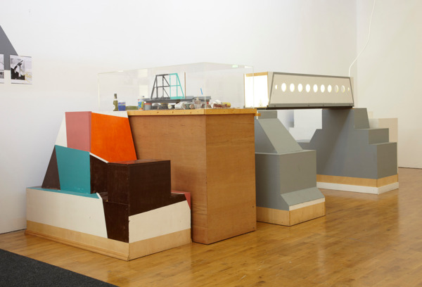 Manfred Pernice, deja vue 12, 2008, Mixed media, Dimensions variable, Installation view 'baldt1', Modern Art, Oxford, 2010