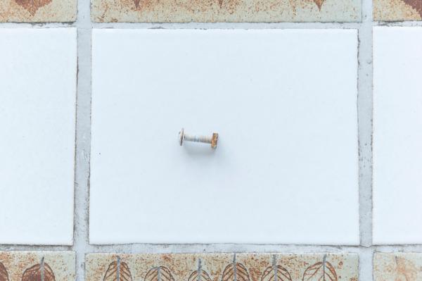 Andrew Kerr, Sink Hole Spirit, 2014, Bolt, nut, 2.8 cm