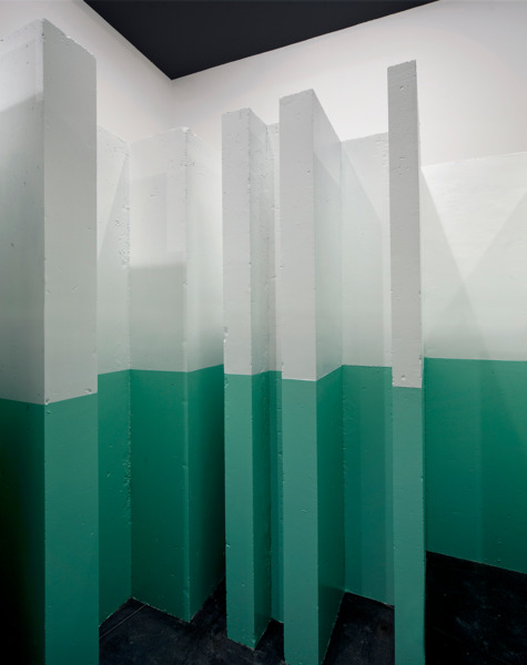 Monika Sosnowska, Wall, 2013, Concrete, paint, 240 x 265 x 304 cm, Installation view, 'Regional Modernities', ACCA, Melbourne, 2013