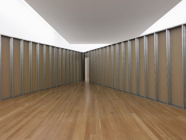 Monika Sosnowska, Antechamber, 2011, Plasterboard, wallpaper, aluminium, Dimensions variable