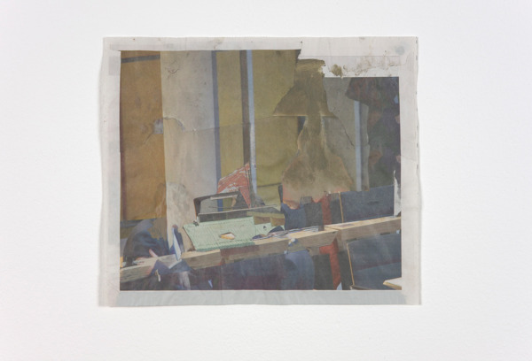 Tony Swain, Untitled, 2012, Acrylic on pieced newspaper, 31.5 x 27 cm