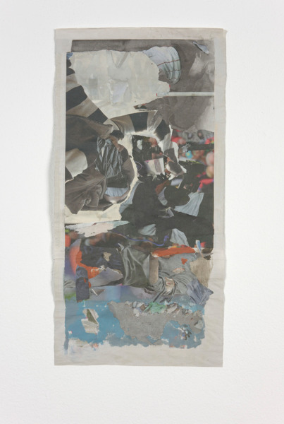 Tony Swain, Tariff of fir, 2012, Acrylic on pieced newspaper, 46 x 23 cm