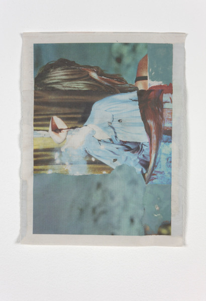 Tony Swain, Untitled, 2012, Acrylic on pieced newspaper, 32 x 24 cm