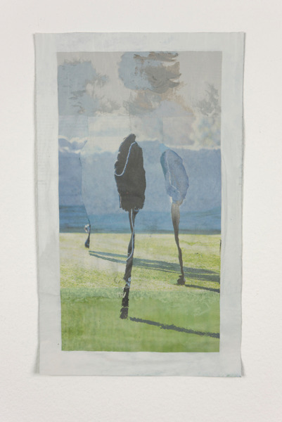 Tony Swain, Winter Applies Here, 2012, Acrylic on pieced newspaper, 37 x 22.5 cm