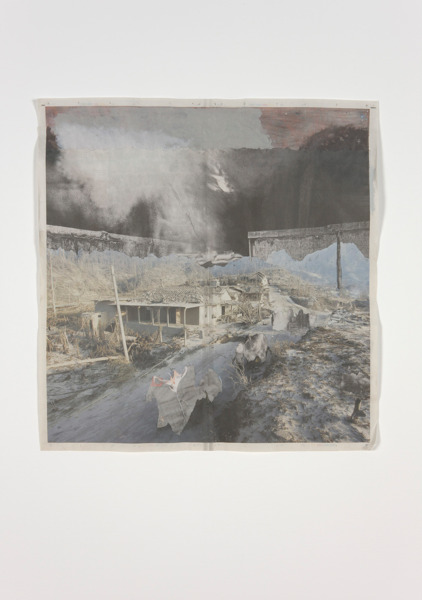 Tony Swain, Swarm and scold, 2012, Acrylic on pieced newspaper, 64 x 62 cm