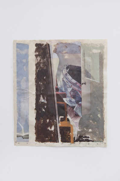 Tony Swain, Untitled, 2014, Acrylic on pieced newspaper, 41.7 x 47.1 cm