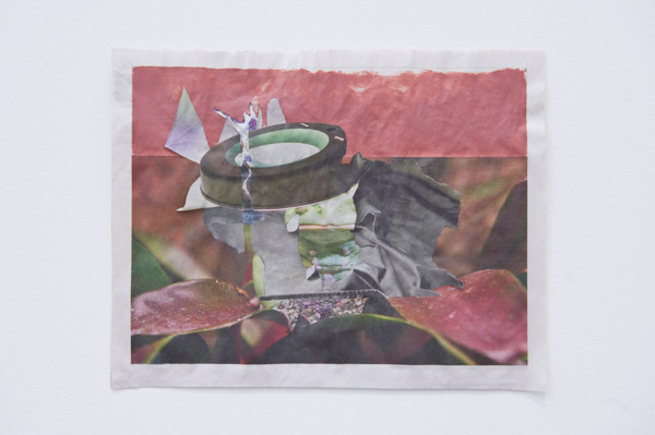 Tony Swain, Untitled, 2015, Acrylic on pieced newspaper, 24 x 31 cm