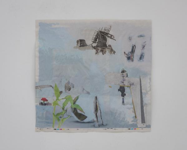 Tony Swain, Untitled, 2015, Acrylic on pieced newspaper, 47 x 48 cm
