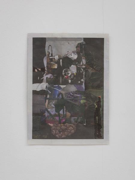 Tony Swain, Untitled, 2015, Acrylic on pieced newspaper, 31 x 22.5 cm