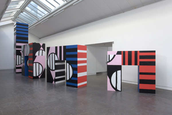 Joanne Tatham & Tom O'Sullivan , Direct serious action is therefore necessary, 2010, MDF, gloss and acrylic paint, Dimensions variable, Installation view, 'Direct serious action is therefore necessary', CCA, Glasgow, 2010