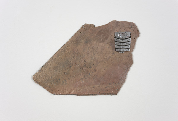 Hayley Tompkins, Data, 2009, Clay, found object, photograph, 16 x 26 x 1 cm