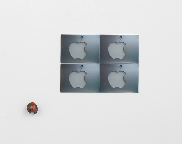 Hayley Tompkins, The Apple, 2011, Digital Photographs, clay, watercolour, Dimensions variable