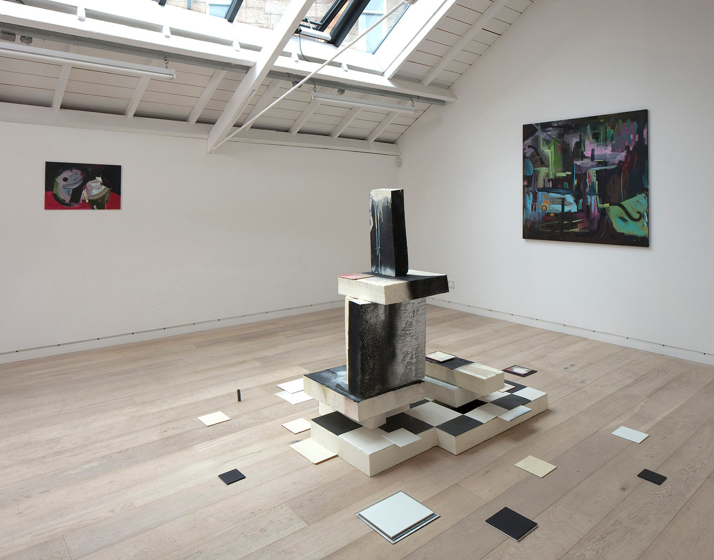 Installation view, 'Gravity Blues', Upstairs at The Modern Institute Osborne Street, Glasgow, 2012