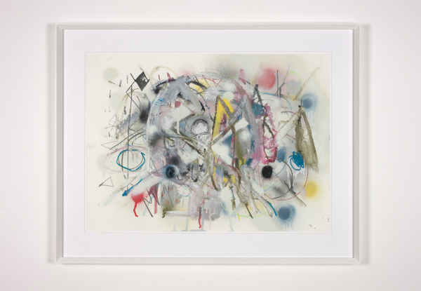 Gregor Wright, I Saw You But You Weren't There, 2012, Pencil, pastel, oil bar and spray-paint on paper, 59.5 x 84 cm