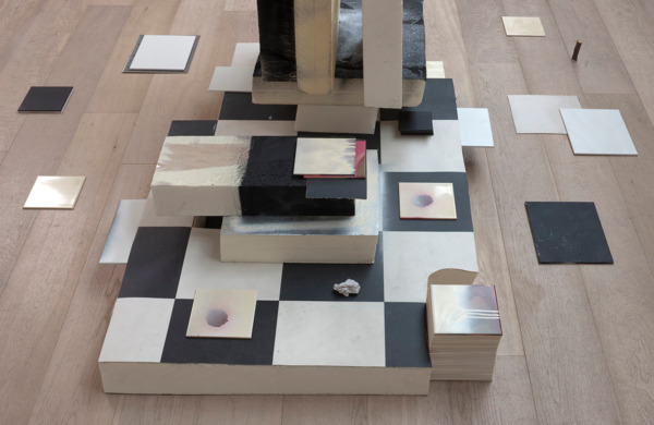 Gregor Wright, Shapeshifter, 2012 (detail), Polystyrene, linoleum, household tiles, spray paint and wood, 142 x 254 x 228 cm