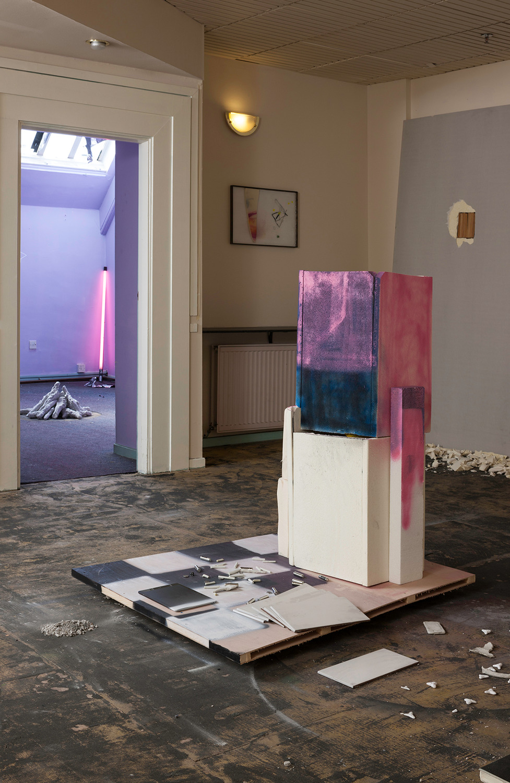 Installation view 'Unstable Matter Situations', 7 Buchanan Street, Glasgow, 2014