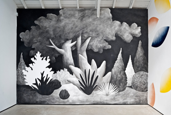 Nicolas Party, Landscape, 2013, Charcoal on wall, Dimensions variable, Installation view, 'Still Life oil paintings and Landscape watercolours', The Modern Institute, Osborne Street, Glasgow, 2013