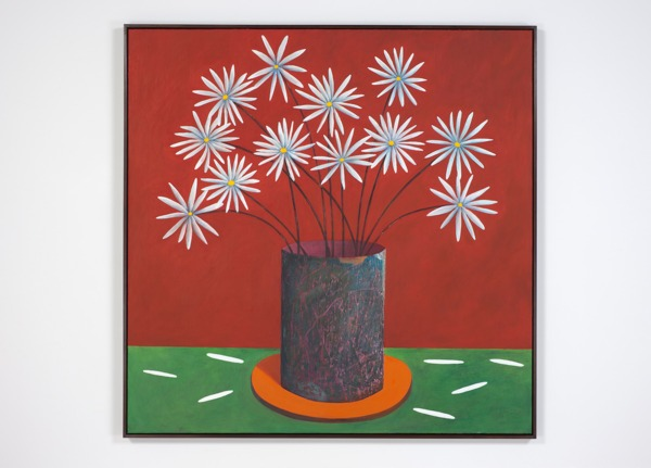 Nicolas Party, Still life with petals, 2012-2013, Oil on canvas, 163.5 x 164 x 5.5 cm