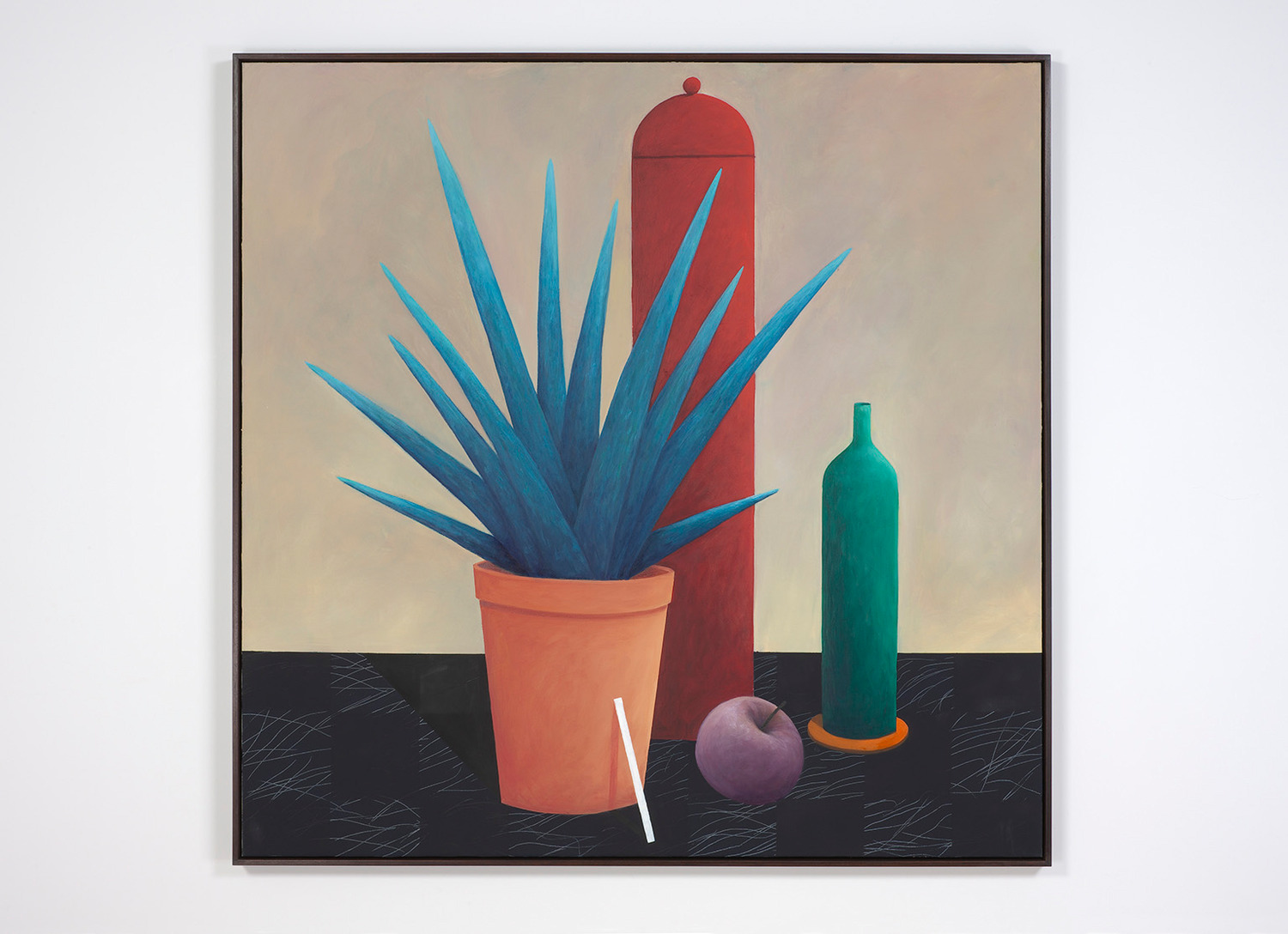 Nicolas Party, Still life with a bottle, 2012-2013, Oil on canvas, 164 x 164 x 5.5 cm
