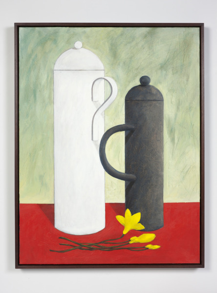Nicolas Party, Still life with yellow flowers, 2012-2013, Oil on canvas, 101 x 78 x 5.5 cm