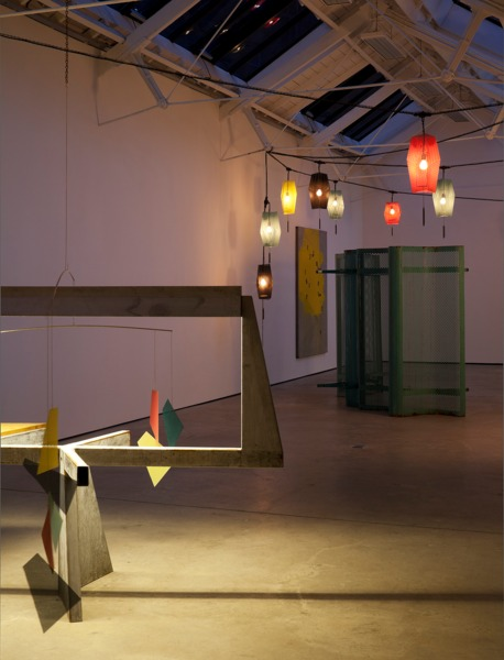 Installation view, 'night terrace - lantern chains - forgotten seas - sky', The Modern Institute/Toby Webster Ltd, Glasgow, 2011