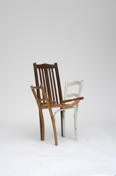 Martino Gamper, Back Issue, 10.04.2006, Wood, 102 x 65 x 47 cm
