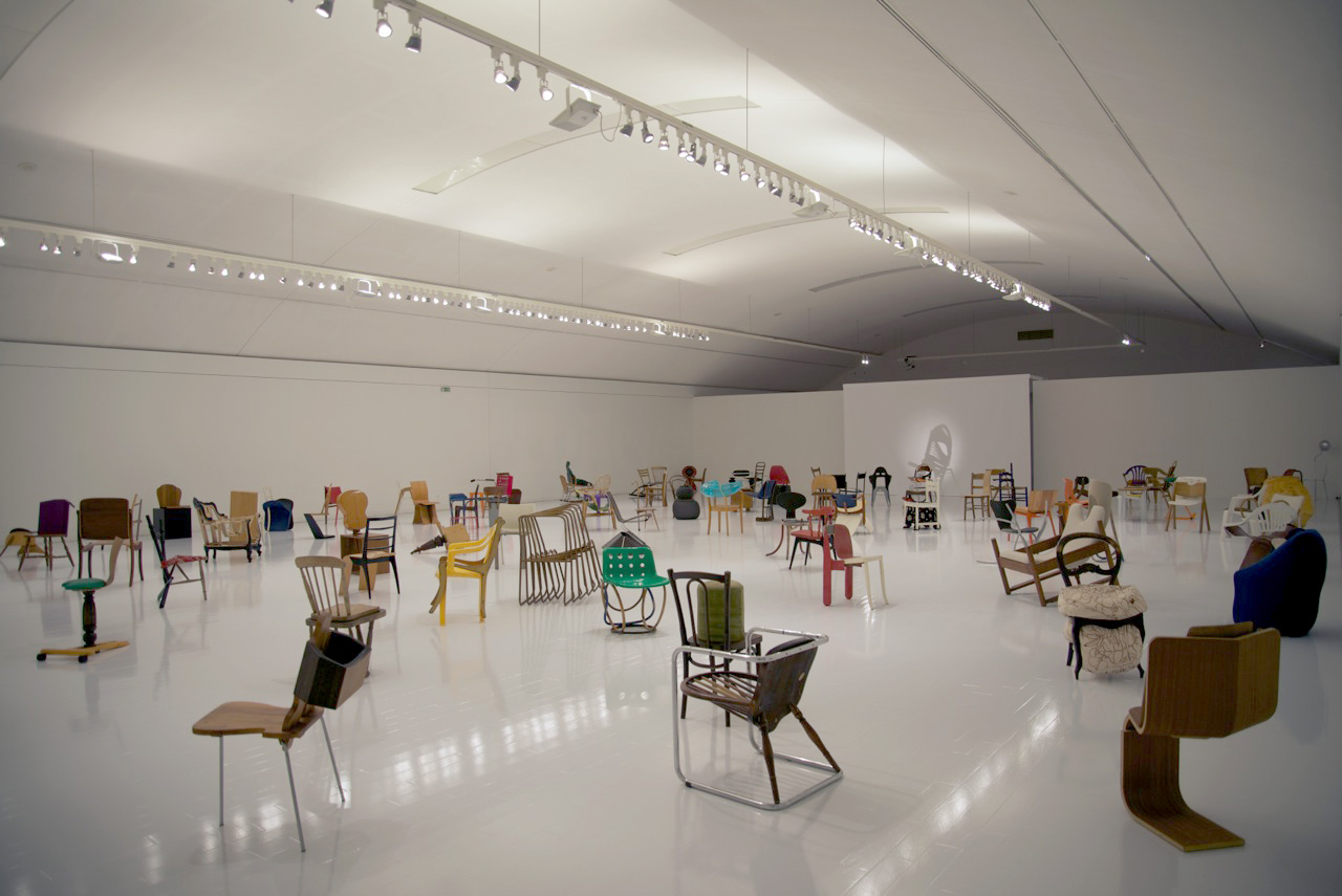 Installation view '100 Chairs in 100 Days', Benaki Museum, Athens, 2013