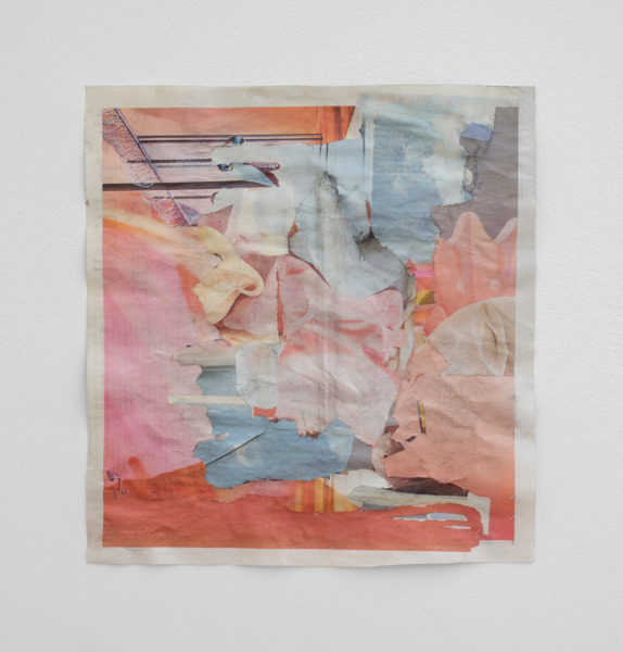 Tony Swain, Rhyme delayed, 2015, Acrylic on pieced newspaper, 26.5 x 25.5 cm