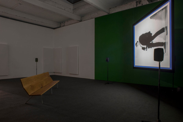 Luke Fowler and Mark Fell , To the Editor of Amateur Photographer, 2014, HD video, Duration: 69 min, Edition of of 5 + 2 AP, Installation view 'To the Editor of Amateur Photographer', The Modern Institute, Aird's Lane, Glasgow, 2015