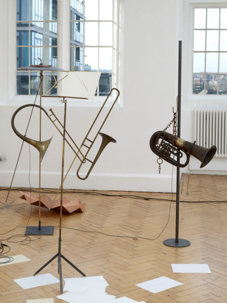 Katja Strunz, Sound of the Pregeomatic Age, 2009 (detail), Mixed media and sound, Dimensions variable