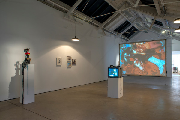 Installation view 'Theater and Performance Works', The Modern Institute, Osborne Street, Glasgow, 2015, Copyright Jack Smith Archive, Courtesy Gladstone Gallery, New York and Brussels