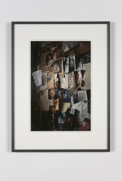 Peter Hujar, Thek's Studio Wall, with Clippings, 1967/2010, Pigmented ink print, 68 x 52.5 x 3 cm, Edition of 10
