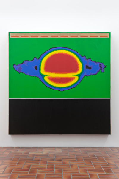 Jack Goldstein, Untitled, 1986, Acrylic on canvas, 209.5 x 211.5 x 17 cm