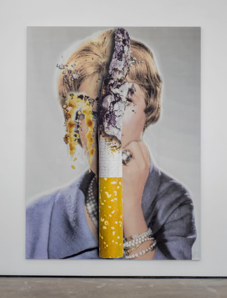 Urs Fischer, Mashed, 2012, Aluminum panel, aluminum honeycomb, two-component epoxy adhesive,, Two-component epoxy primer, galvanized steel rivet nuts, acrylic primer,, Gesso, acrylic ink, spray enamel, acrylic silkscreen medium, acrylic paint, 243.8 x 182.9 x 2.5 cm