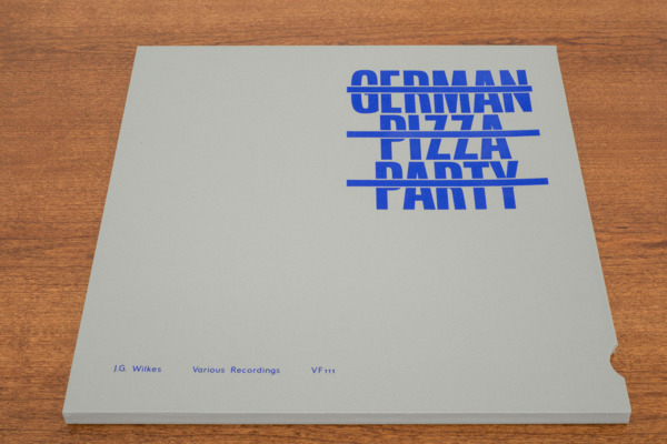 Jonnie Wilkes, German Pizza Party, 2014, Screenprinted fabric sleeve, 32 x 33 x 1.3 cm