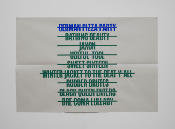 Jonnie Wilkes, German Pizza Party, 2014, Poster, 61 x 91.4 cm