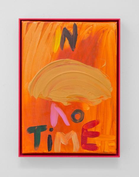 Sue Tompkins, Untitled, 2006, Acrylic on canvas, 38.6 x 27 x 4 cm